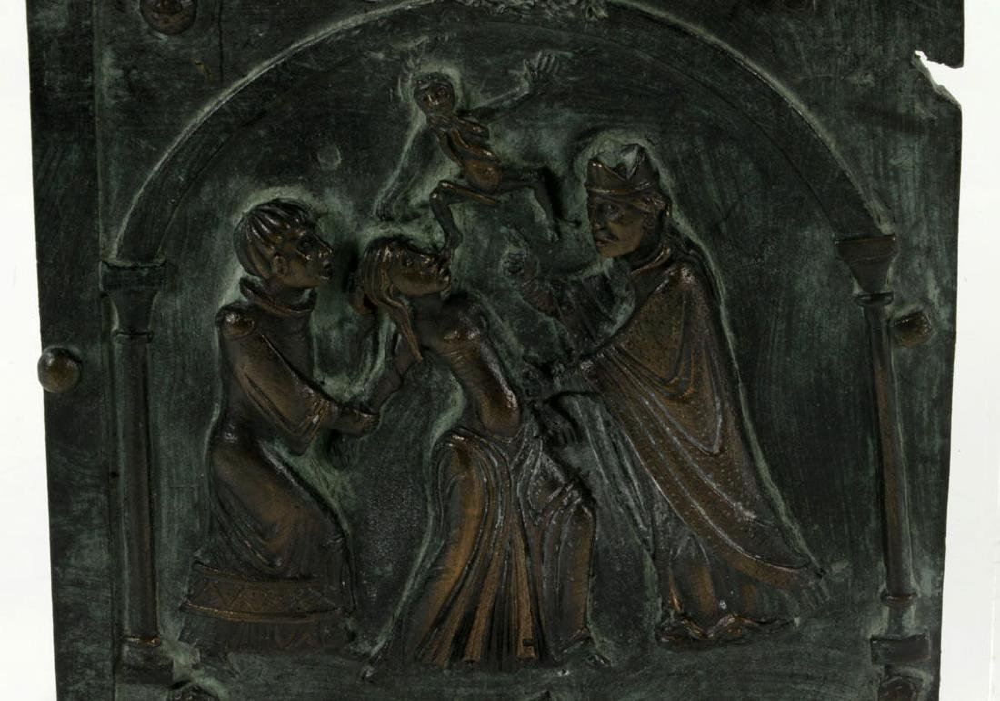 Bronze Plaque with Figures - 3