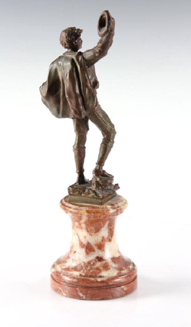 Bronze Statue of Man Wearing Hat - 2