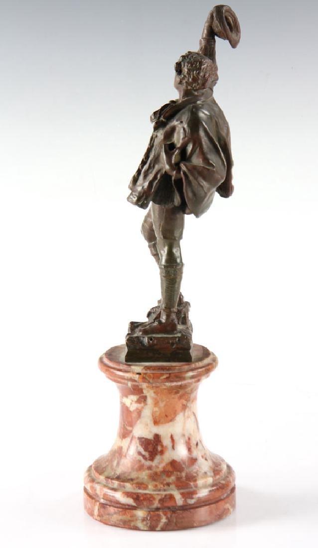 Bronze Statue of Man Wearing Hat - 3