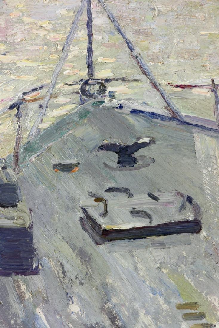 Yanchak, Three Sailors, Oil on Board - 3