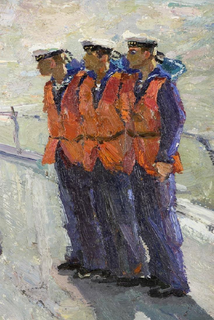 Yanchak, Three Sailors, Oil on Board - 4