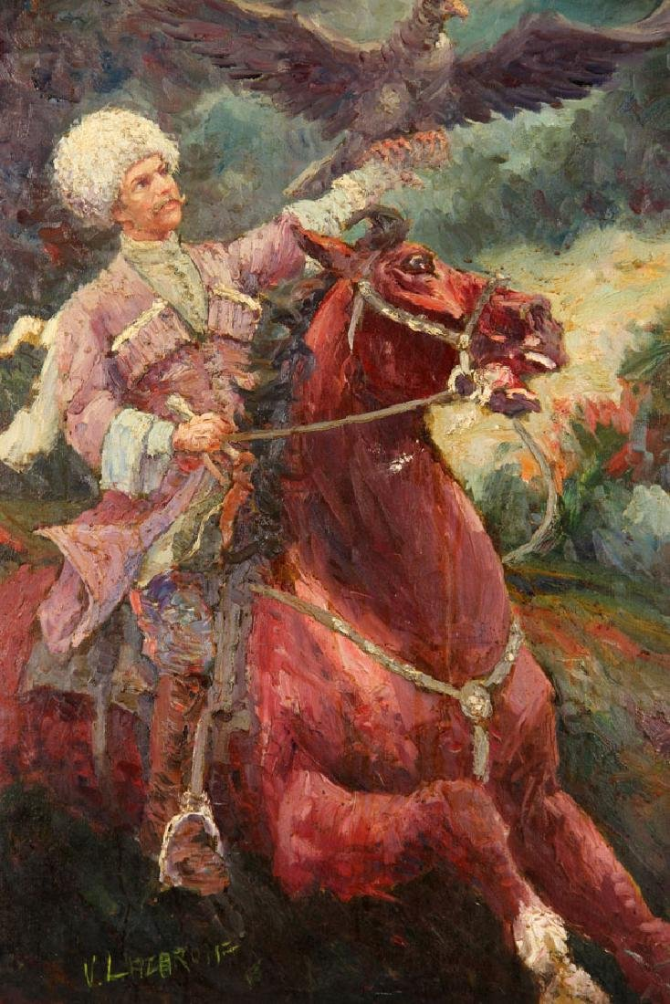 V. Lacarolf, Russian Cossack on Horseback, Oil - 3