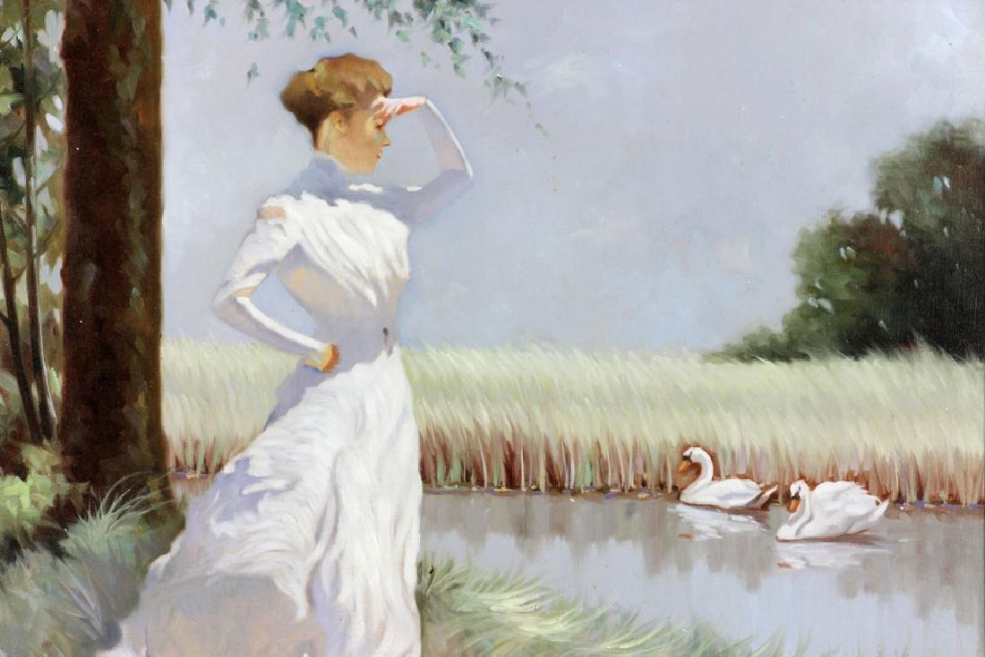Italian School, Woman, Oil on Canvas - 2