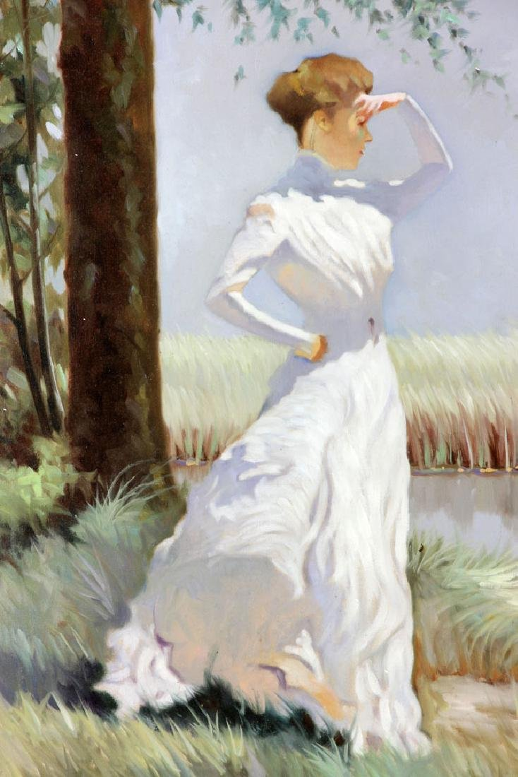 Italian School, Woman, Oil on Canvas - 3