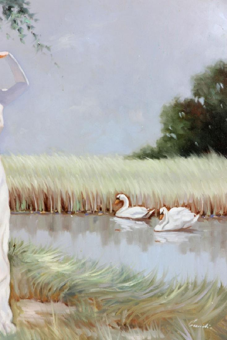 Italian School, Woman, Oil on Canvas - 4