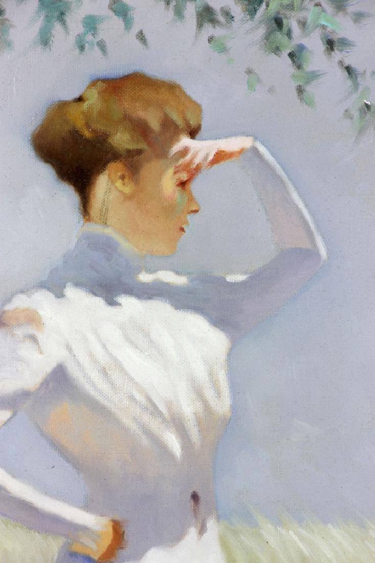 Italian School, Woman, Oil on Canvas - 5