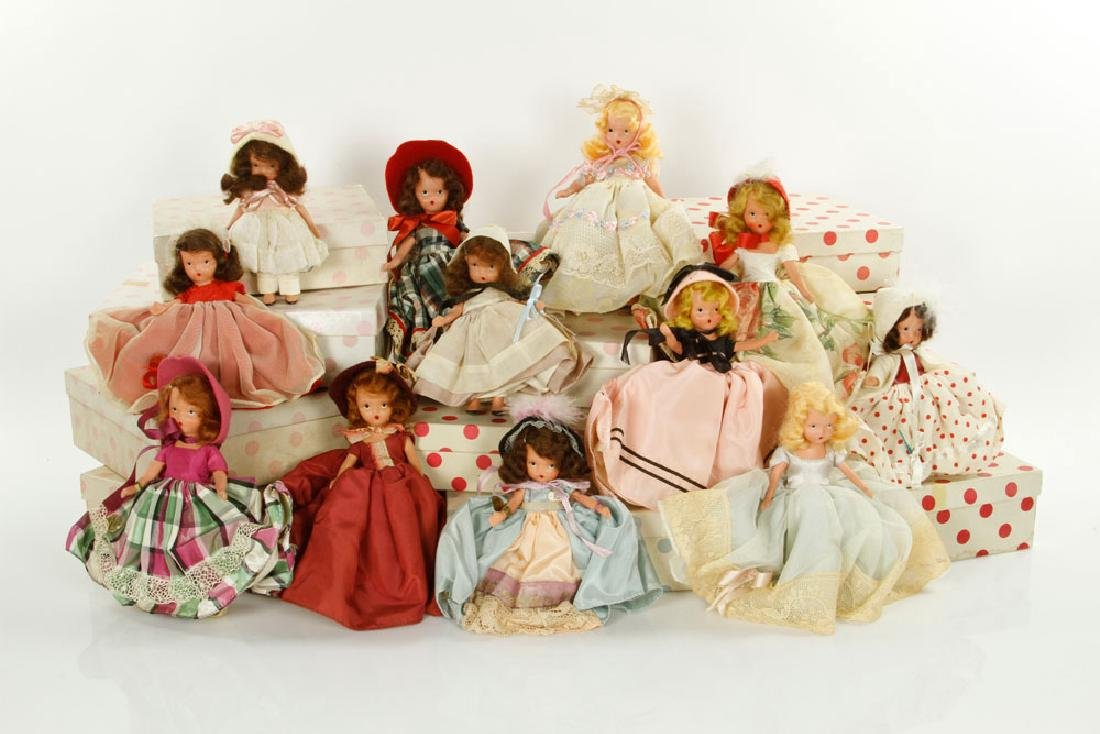 Lot of 12 Nancy Ann Dolls