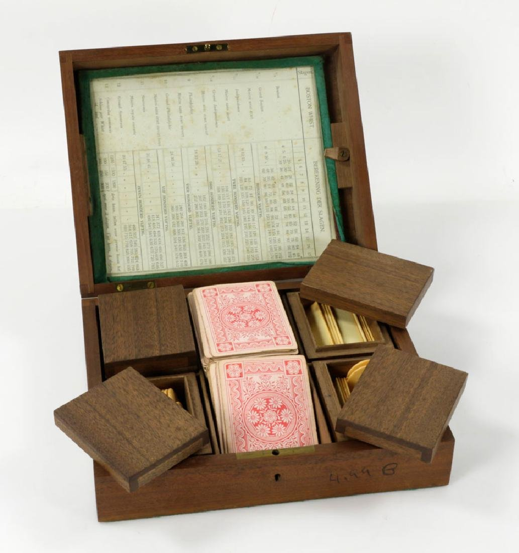 Antique Whist Game Box - 4