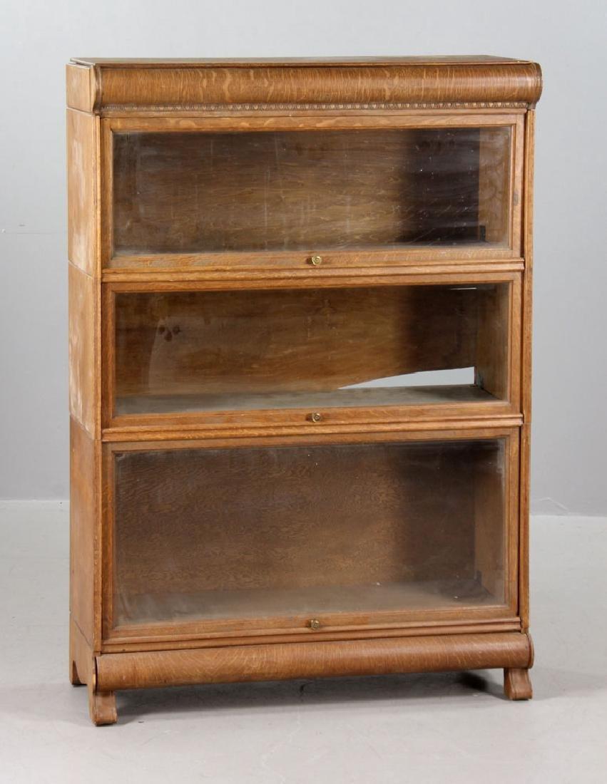 Oak Barrister Bookcase