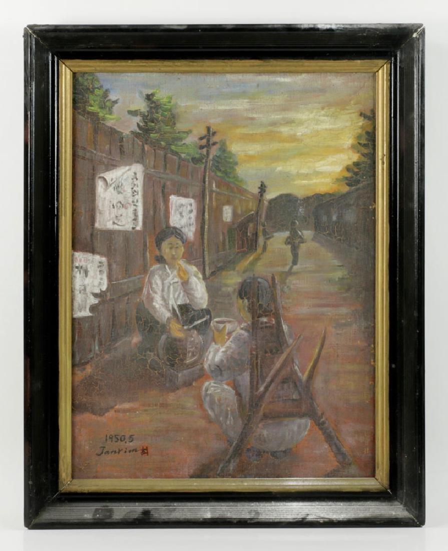 South Korean Women, Oil on Canvas