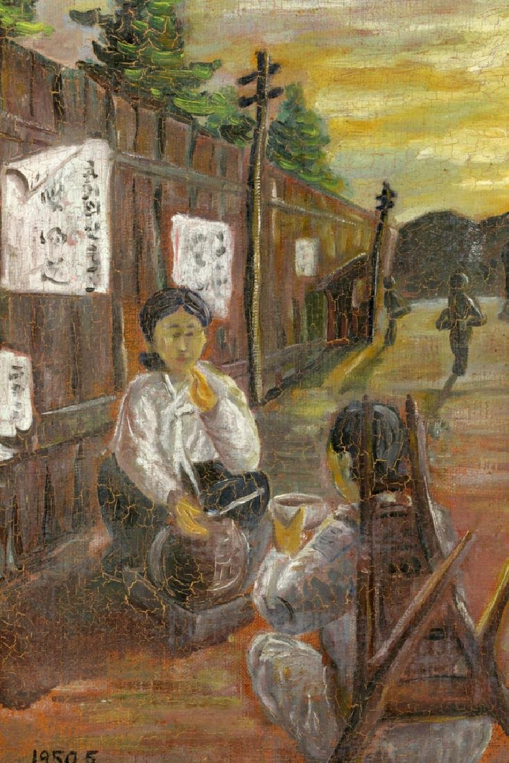 South Korean Women, Oil on Canvas - 4