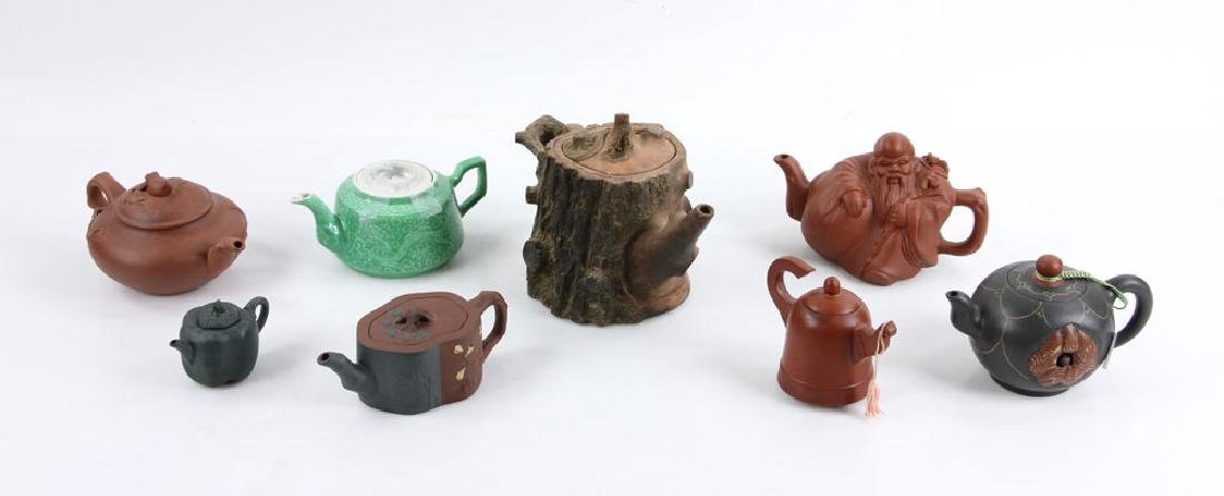 Eight Chinese Teapots