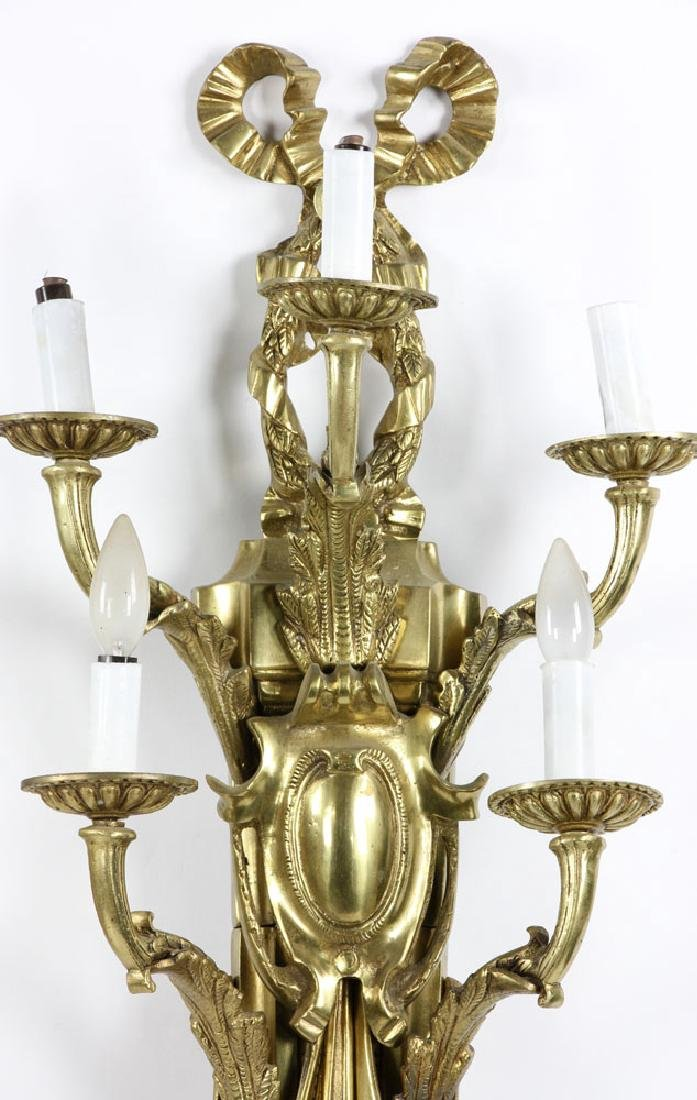 Early 20th C. French Brass Wall Sconces - 2