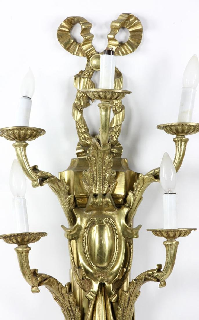 Early 20th C. French Brass Wall Sconces - 3