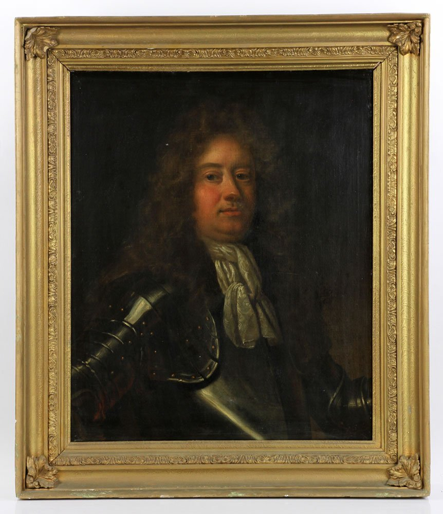 17th/18th C. English Portrait of Man, Oil