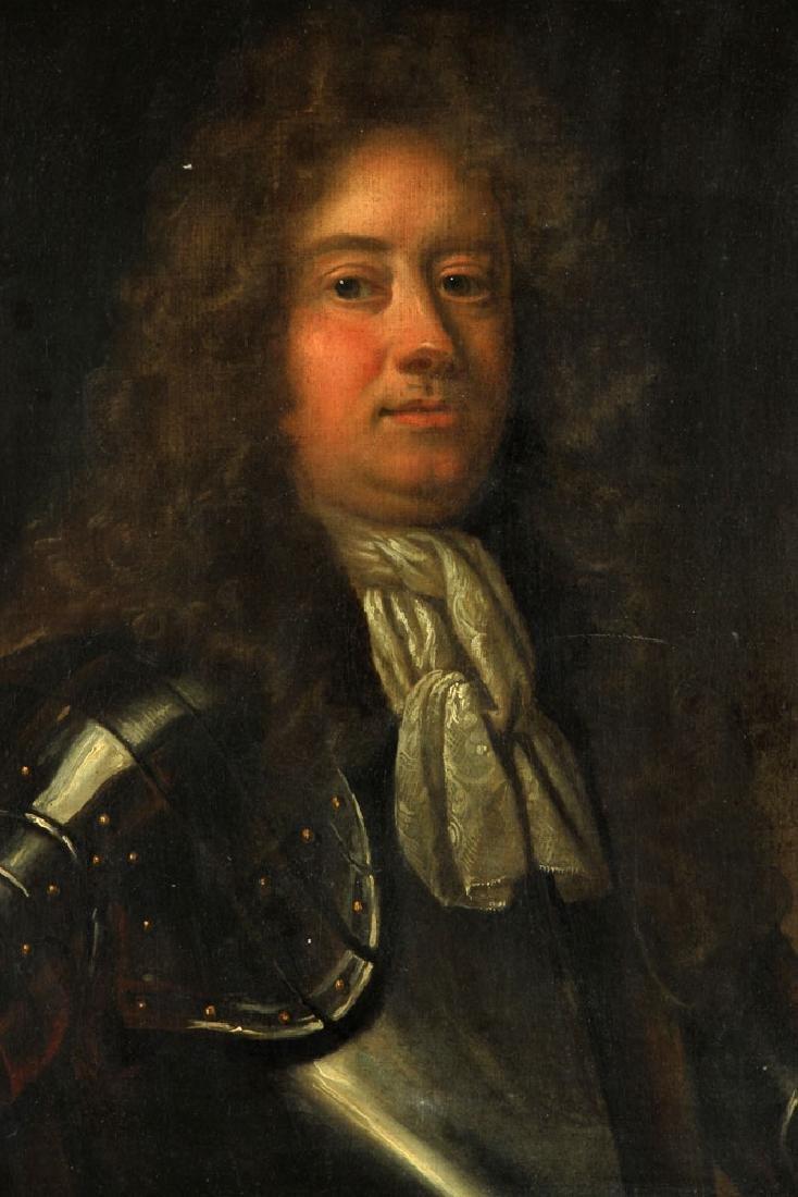 17th/18th C. English Portrait of Man, Oil - 2