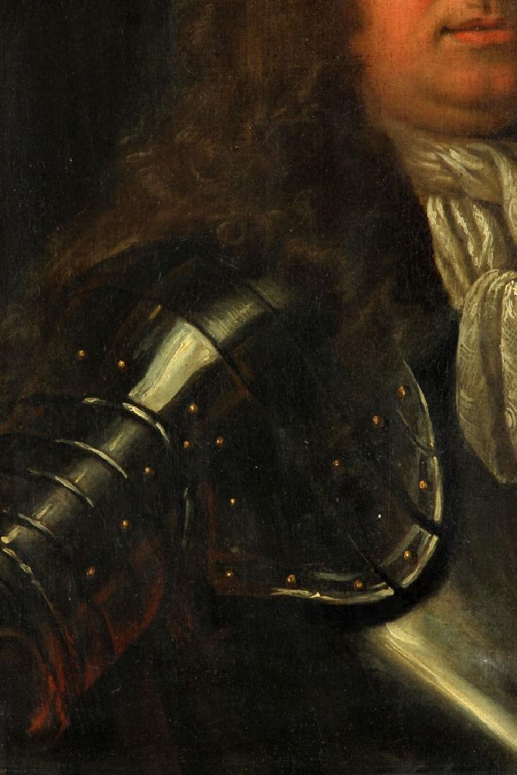 17th/18th C. English Portrait of Man, Oil - 3