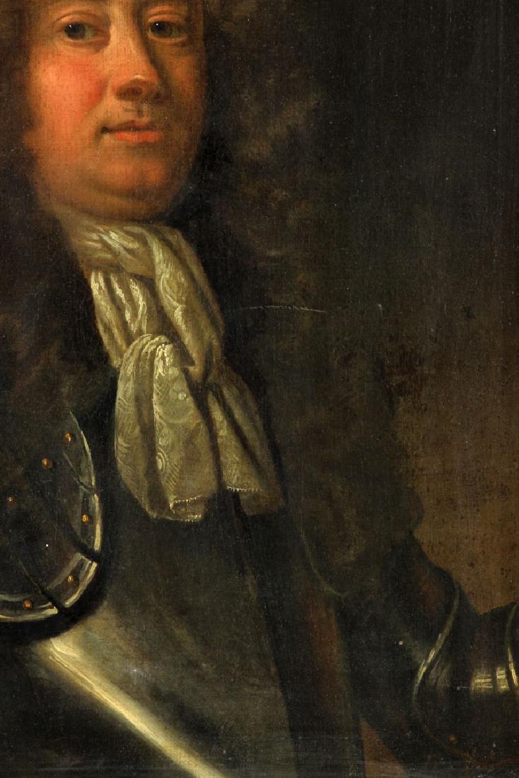 17th/18th C. English Portrait of Man, Oil - 4