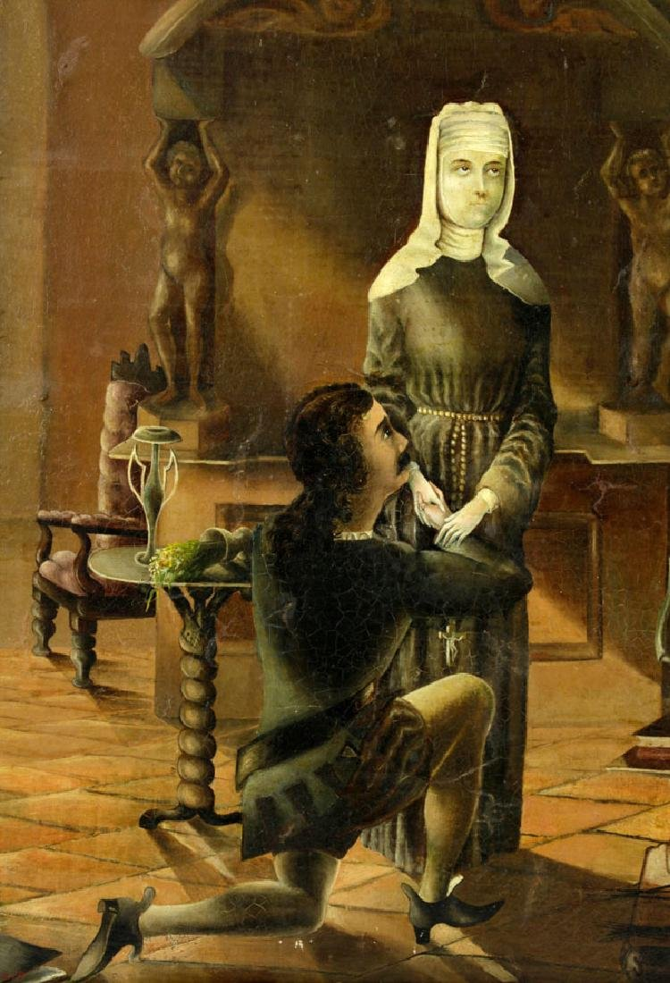 Bartlett, The Confession, Oil on Canvas - 3