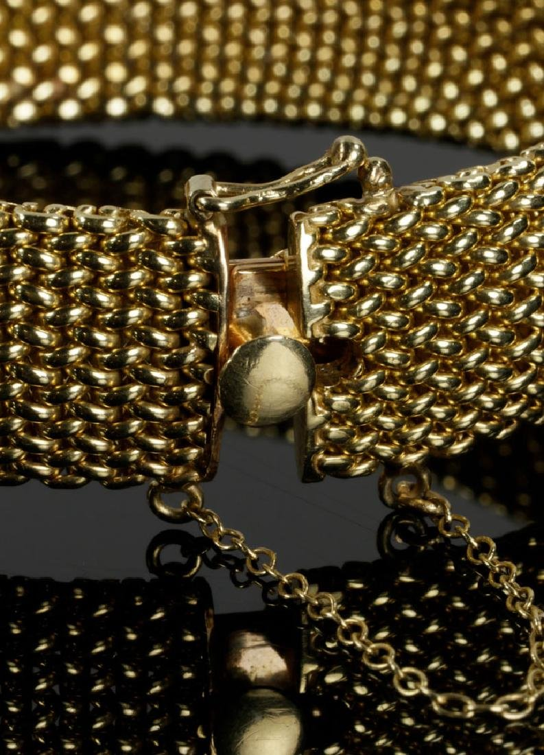 14K Gold Mesh and Diamond Bracelet - 3