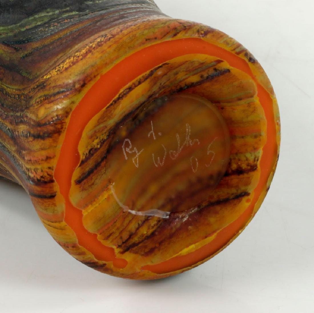 Randy Walker Art Glass Vase - 8