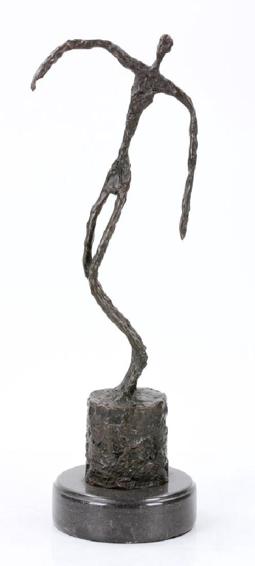 Signed Giacometti, Figure of a Man, Bronze