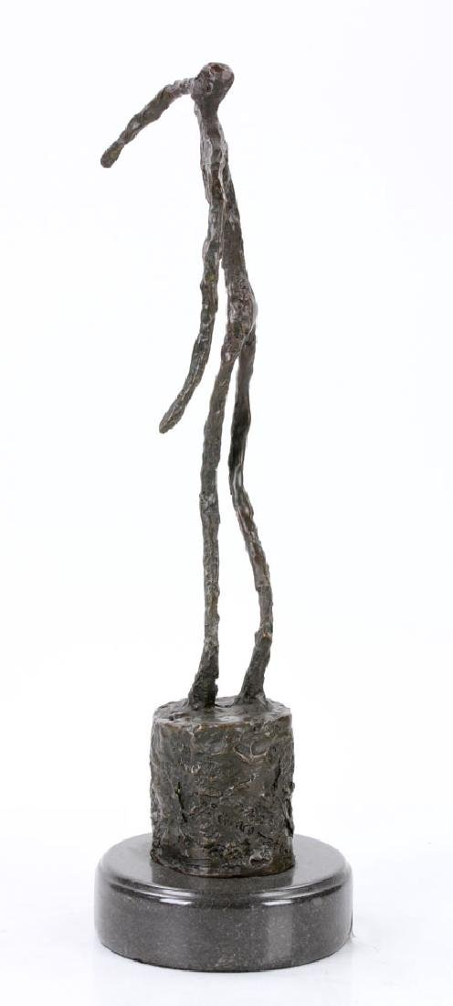 Signed Giacometti, Figure of a Man, Bronze - 2