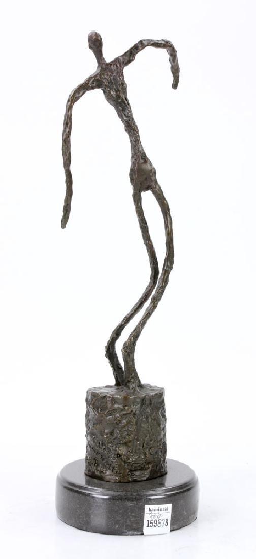 Signed Giacometti, Figure of a Man, Bronze - 3