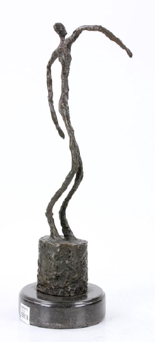 Signed Giacometti, Figure of a Man, Bronze - 4