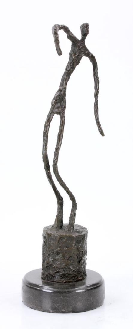 Signed Giacometti, Figure of a Man, Bronze - 5
