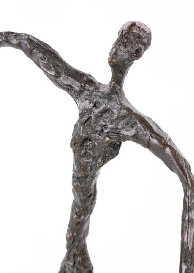 Signed Giacometti, Figure of a Man, Bronze - 6