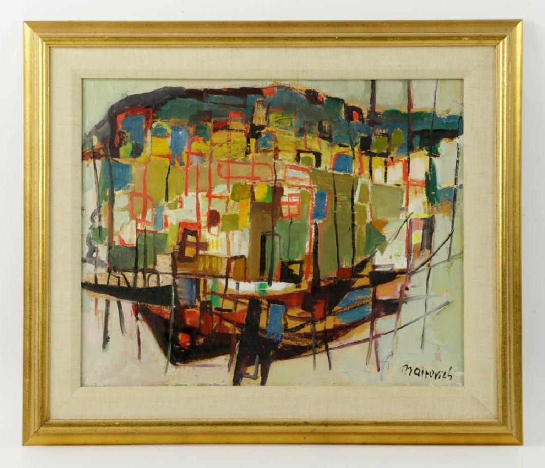 Mairovich, Sailboat, Oil on Canvas