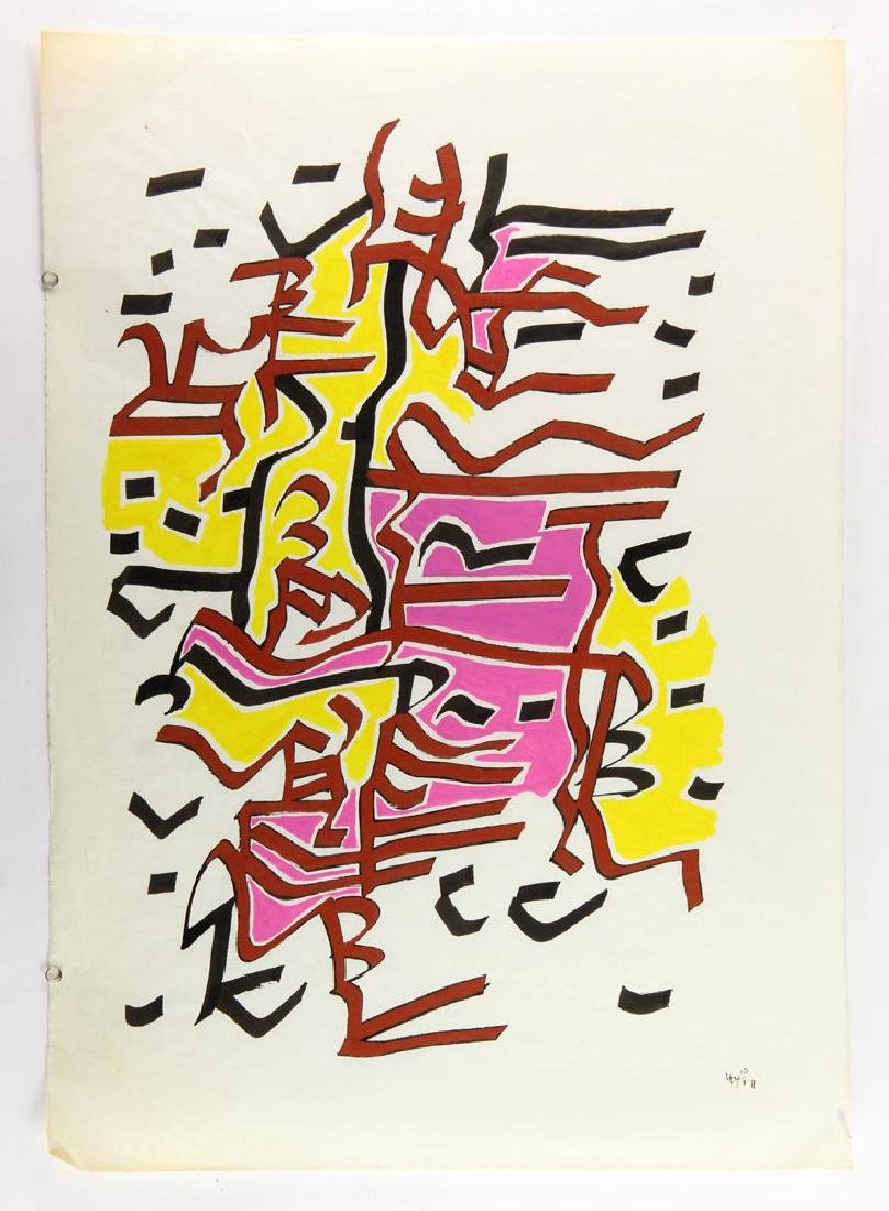 Wilke, Abstract, Gouache