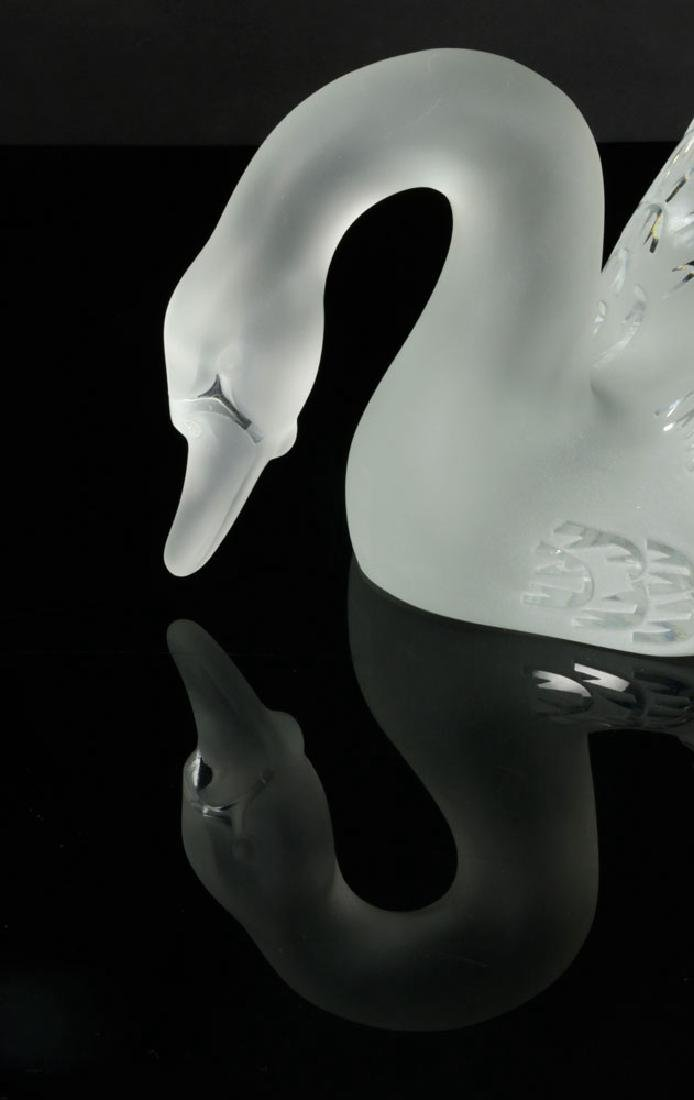 Two Lalique Glass Swans - 4
