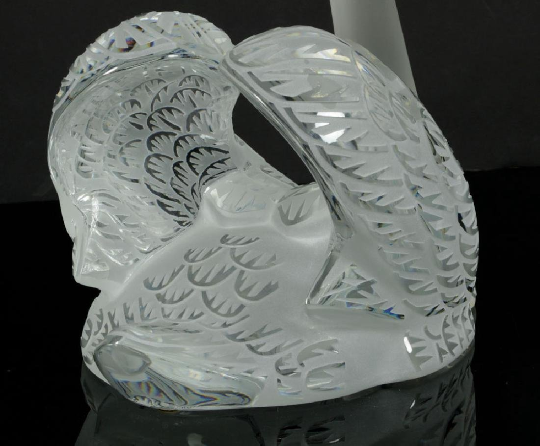 Two Lalique Glass Swans - 6