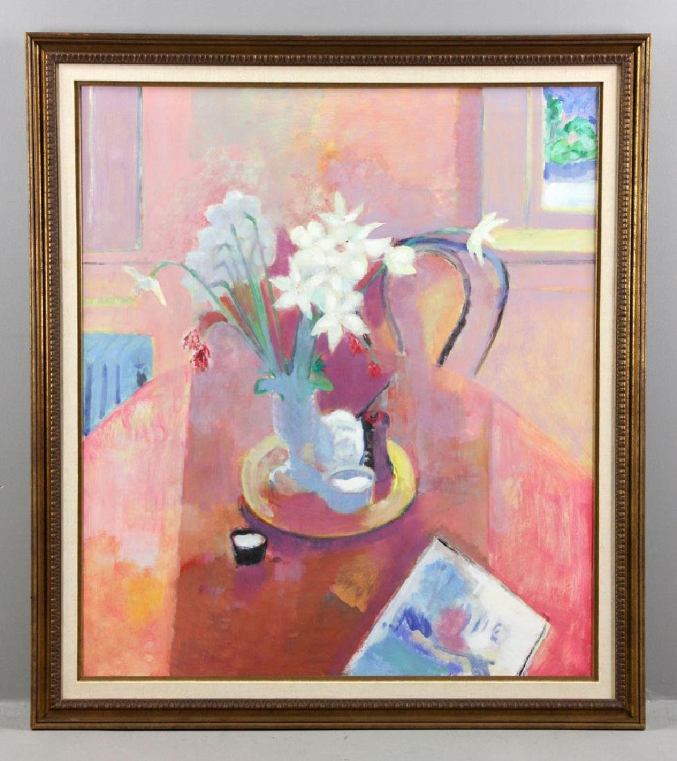 Brandt, Still Life of Daffodils, Oil on Canvas