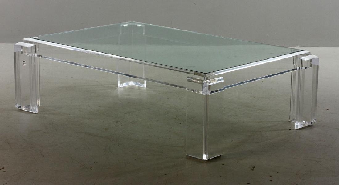 Les Prismatiques Lucite Table