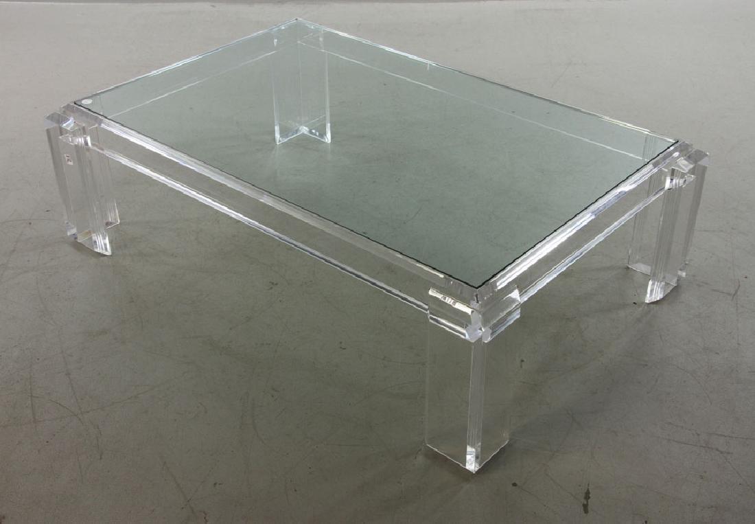 Les Prismatiques Lucite Table - 2