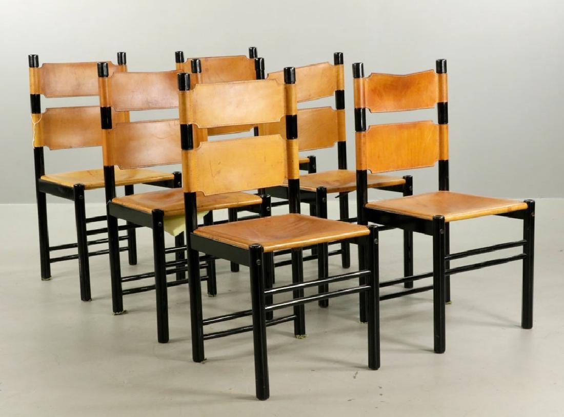 Set of Six Italian Modern Chairs