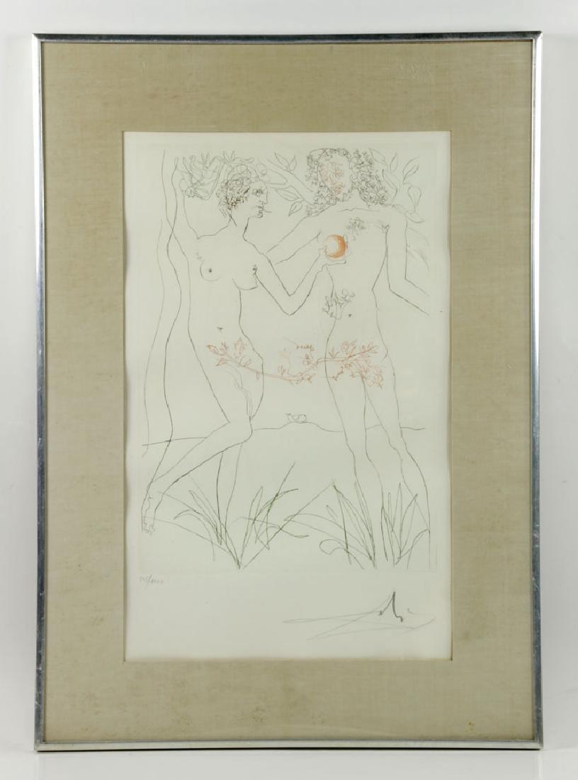 "Salvador Dali ""Adam & Eve"" Print"
