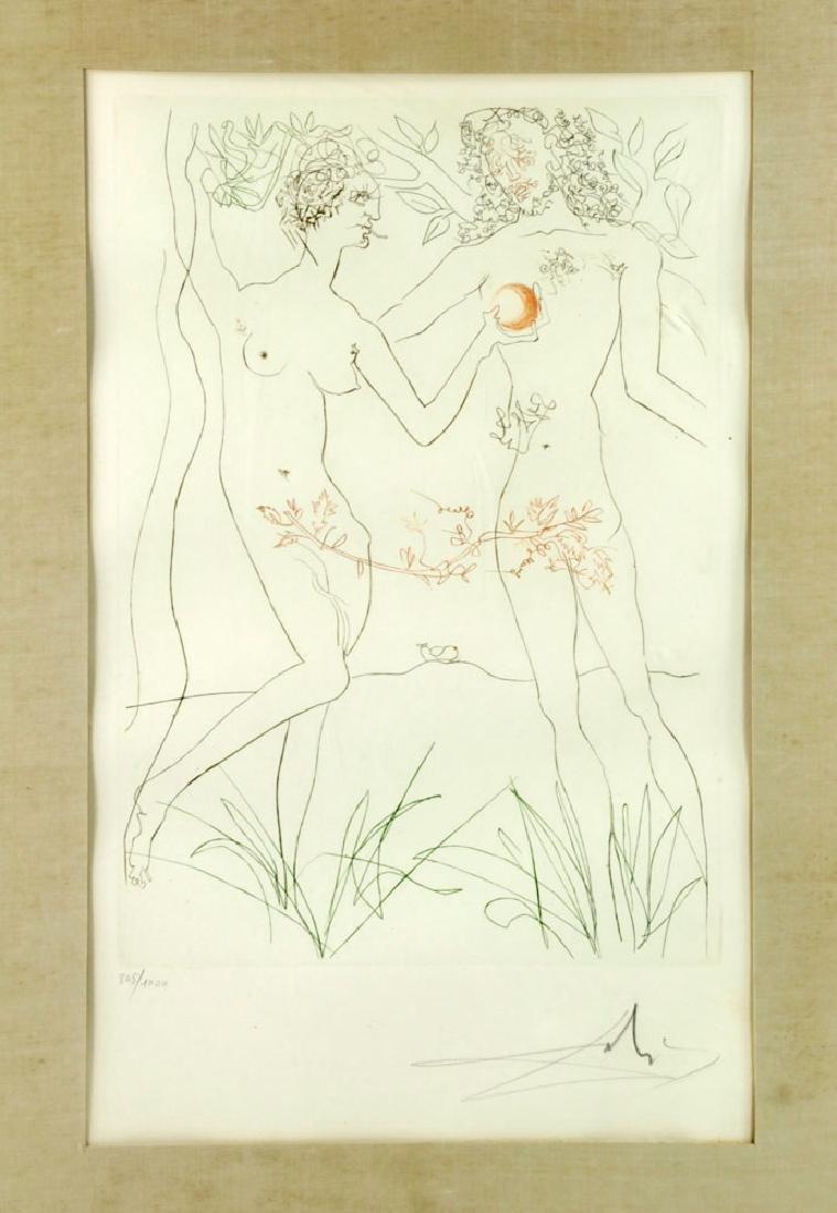 "Salvador Dali ""Adam & Eve"" Print - 3"