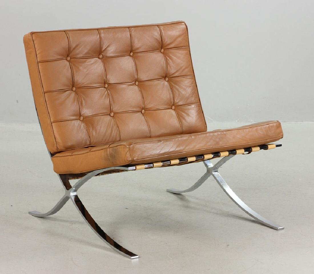Brown Leather Barcelona Chair