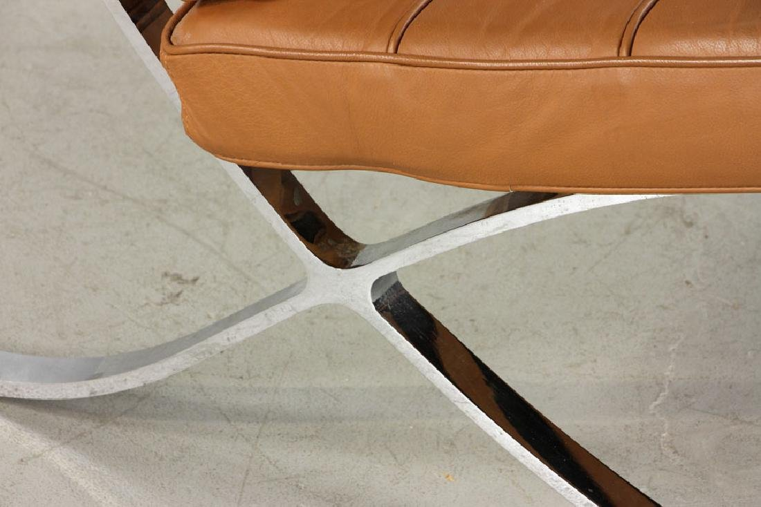 Brown Leather Barcelona Chair - 5