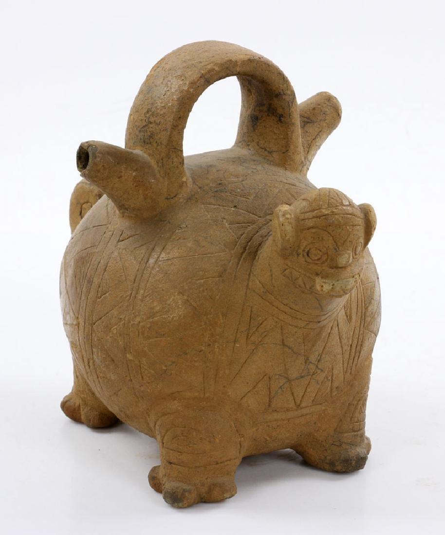 Pre-Columbian Monkey Vessel