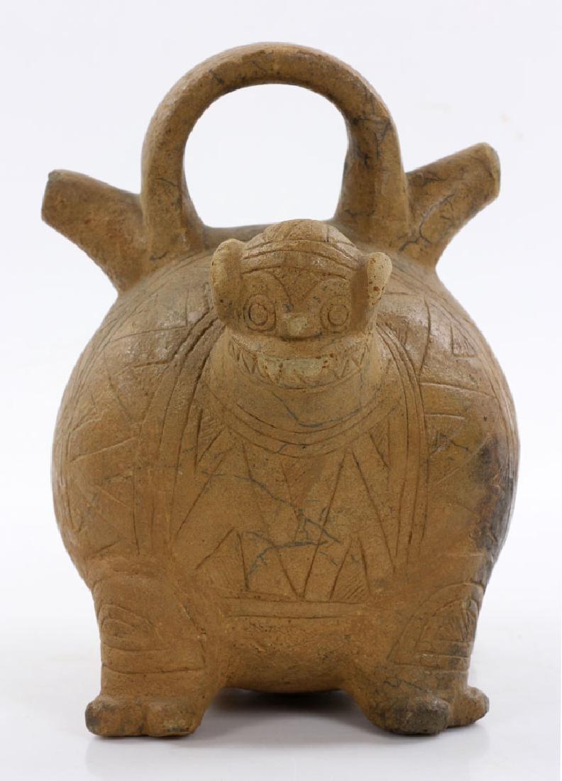 Pre-Columbian Monkey Vessel - 6