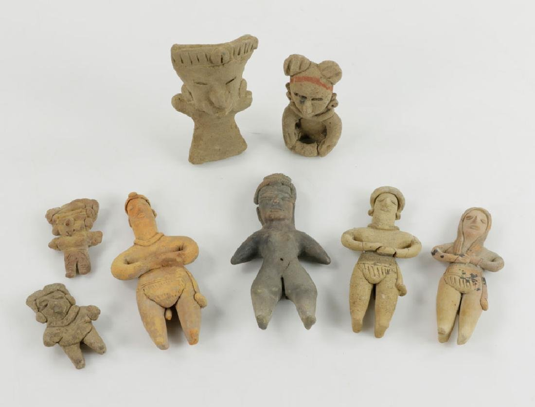 Eight Pre-Columbian Pottery Figures