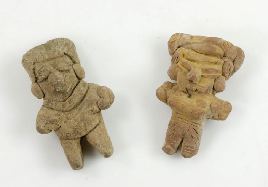 Eight Pre-Columbian Pottery Figures - 4