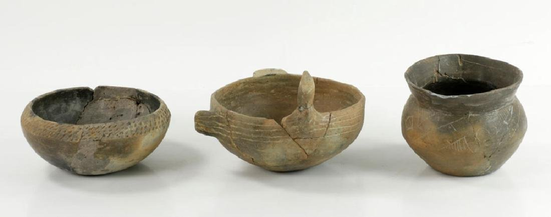 Three Pre-Columbian Pottery Bowls