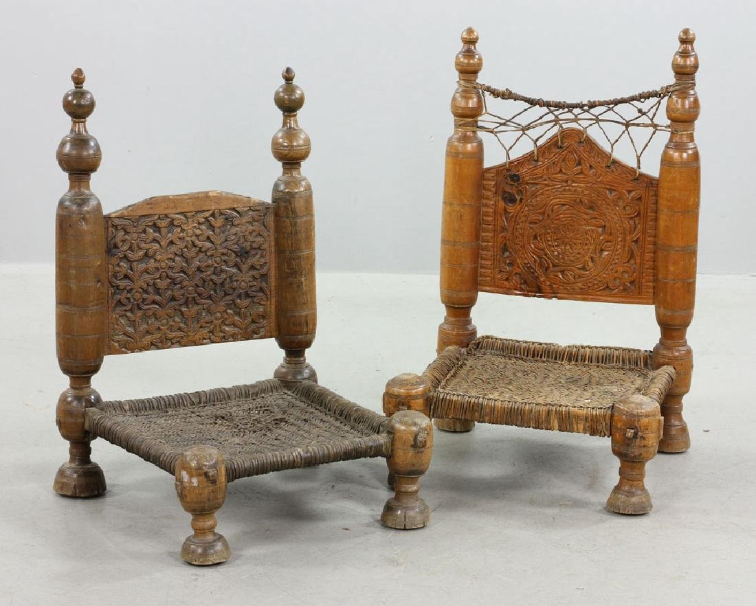 Two 19th C. Middle Eastern Chairs