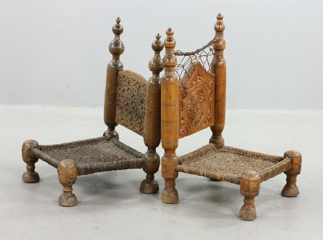 Two 19th C. Middle Eastern Chairs - 2